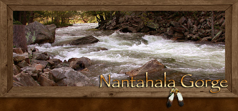 Nantahala Gorge in Western North Carolina Mountains