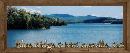 Blue Ridge, Dial, Aska Adventure Area, Morganton, McCaysville & Mineral Bluff in Fannin County Georgia
