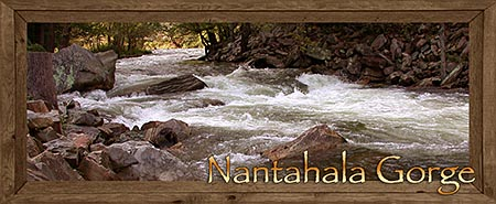Nantahala Gorge in the North Carolina Mountains