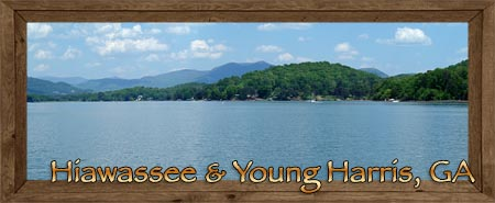 Hiawassee & Young Harris in Towns County Georgia