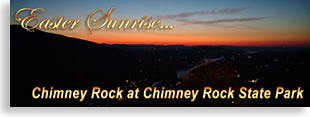 Easter Sunrise Service at Chimney Rock and Chimney Rock State Park