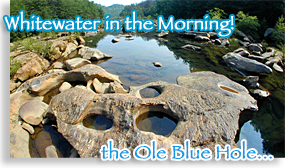Old Blue Hole - White Water in the Morning