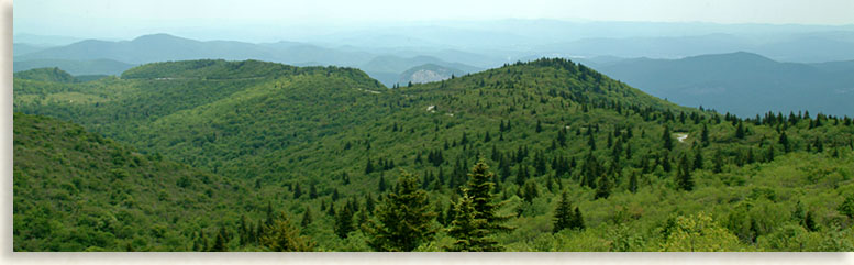 Blue Ridge Parkway traversing the mountain tops
