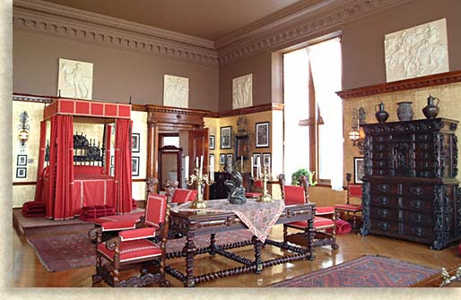 George Vanderbilts Master Bedroom at Biltmore Estate in Asheville North Carolina