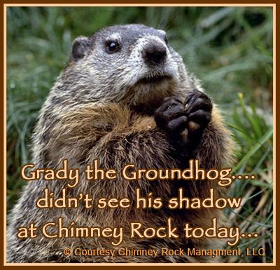 Grady the Groundhog at Chimney Rock