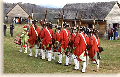 Drills at Christmas at Fort Loudoun