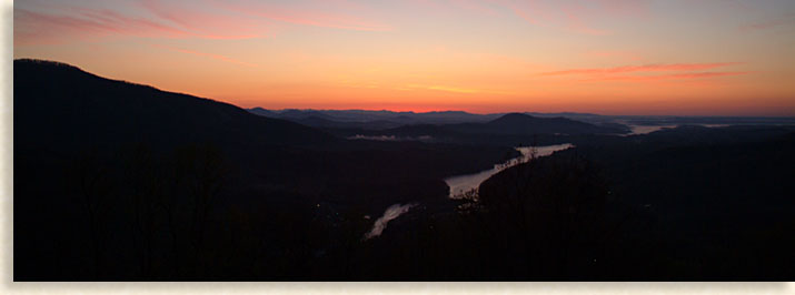 Sunrise over Lake Lure