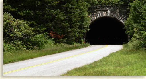courthouse tunnel on the blue ridge parkway