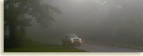 fog lights on the parkway