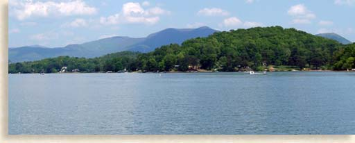 Lake Chatuge in Hiawassee Georgia