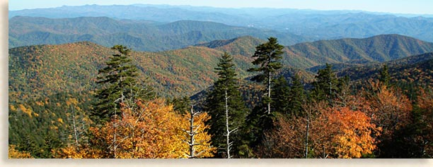 Clingmans Dome Overlook in the Fall
