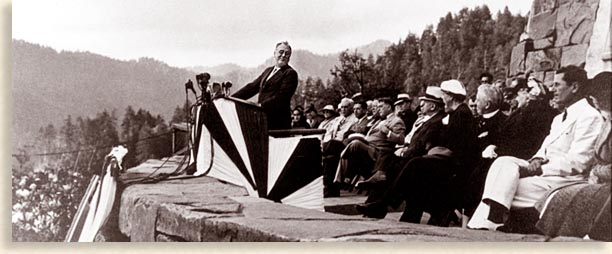 Franklin D Roosevelt at the Dedication to the Great Smoky Mountains National Park