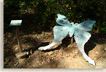 Butterfly Art at Great Woodland Adventure at Chimney Rock State Park