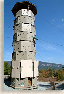 Climbing Tower at Chimney Rock State Park