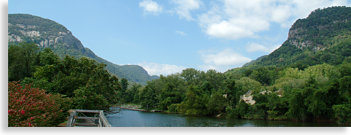 Entrance to Hickory Nut Gorge