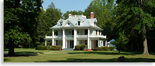 White Neo-Classical Revival House