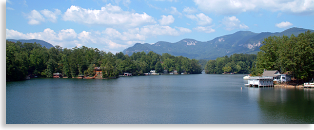 Lake Lure in Rutherford County NC