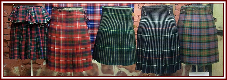 Selection of Kilt Styles