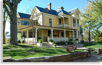 Author Thomas Wolfe's boyhood home in Asheville North Carolina