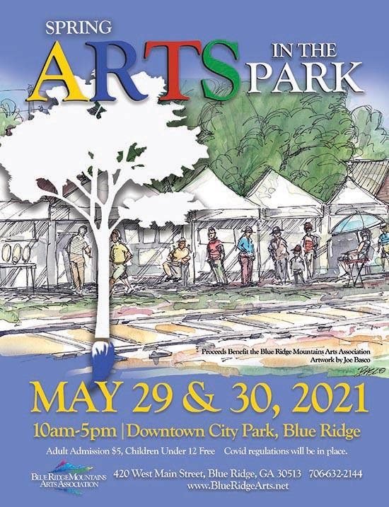 Arts in the Park in Blue Ridge Georgia