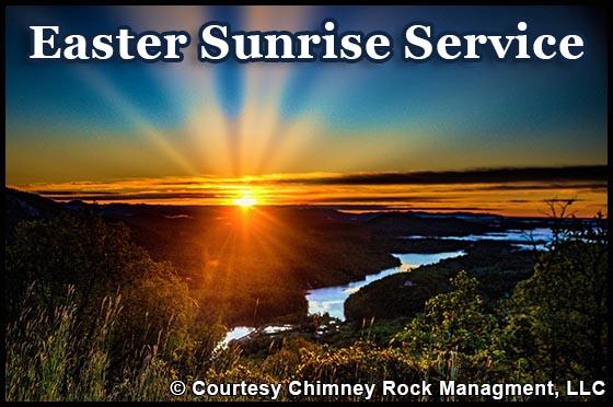 Chimney Rock Easter Sunrise Service