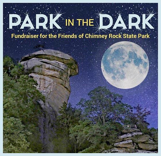Chimney Rock Park in the Dark