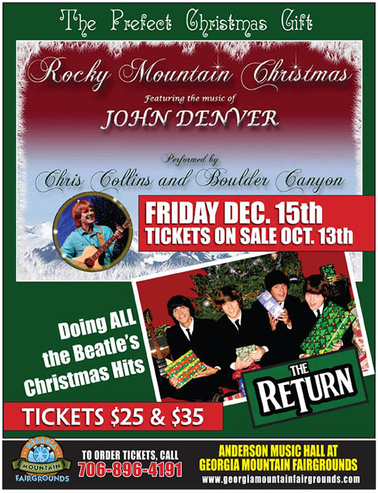 Hiawassee Ga Rocky Mtn Christmas Featuring The Music Of John