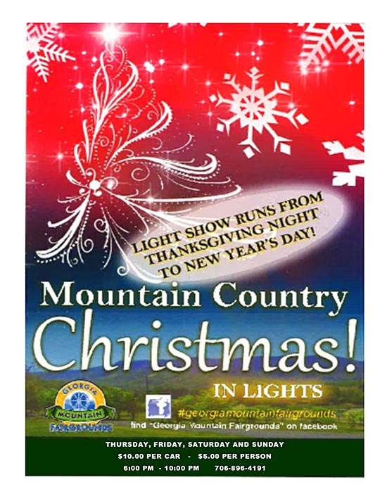 Christmas Lights In Georgia.Hiawassee Ga Mountain Country Christmas In Lights At