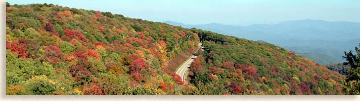 Cherohala Skyway Road shot