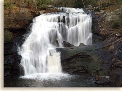 Bald Falls in Monroe County Tennessee