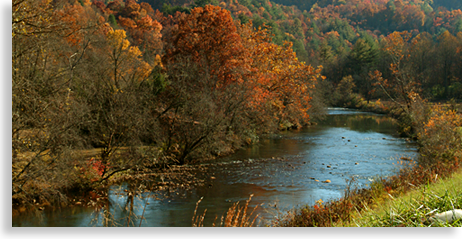 Hiwassee River in Cherokee County North Carolina