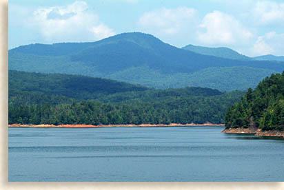 Hiwassee LAkes and Unicoi Mountains