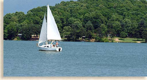 Lake Lanier Sailboat