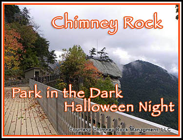 Chimney Rock Park in the Dark
