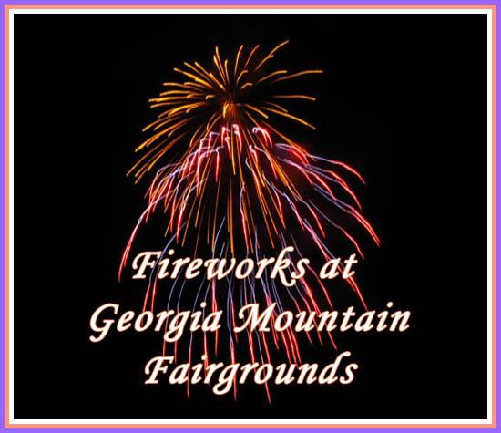 Fireworks at Georgia Mountain Fairgrounds