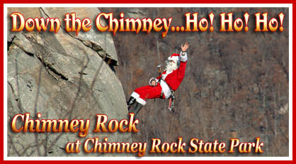 Down the Chimney at Chimney Rock at Chimney Rock State Park