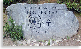 Appalachian Trail in the North Georgia Mountains