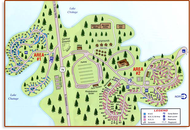 Fairground and Campground Map