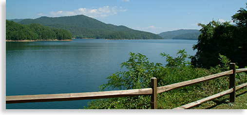 Fontana Lake in Robbinsville North Carolina
