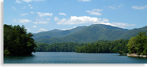 Santeetlah Lake in Robbinsville North Carolina
