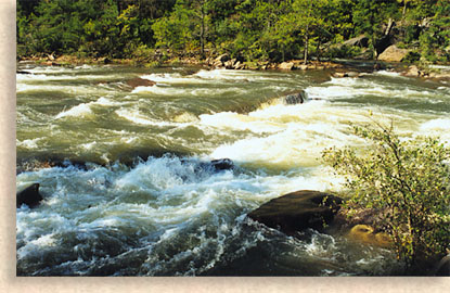 Ocoee River with rushing water