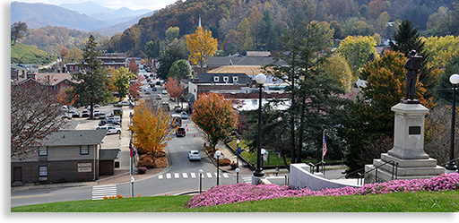 Historic town of Sylva NC