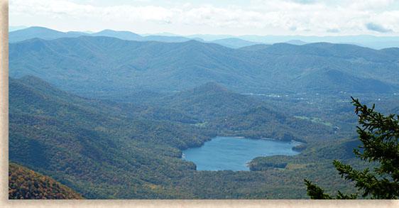 Burnett Reservoir Black Mountain Western North Carolina Mountains