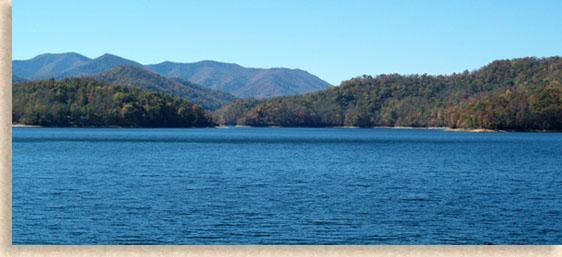 Nantahala Lake In Macon County Western North Carolina Mountains