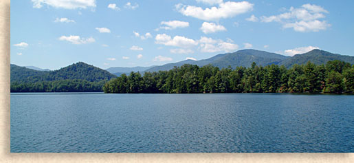 Lake Santeetlah in Graham County North Carolina