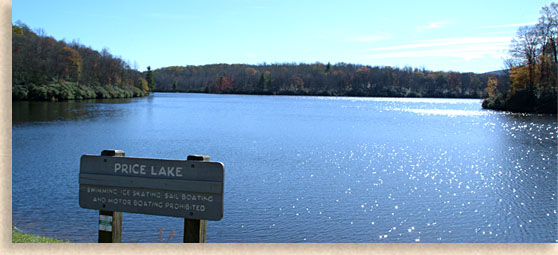 Price lake on the blue ridge parkway western north for Lake blue ridge fishing