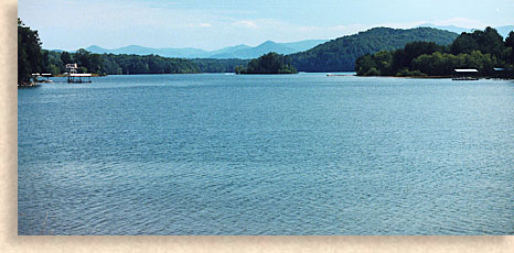 Lake Chatuge in Clay County North Carolina