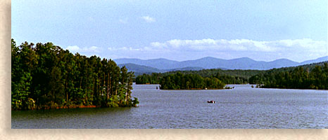 Lake Nottely in the North Georgia Mountains