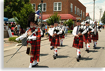 Scottish Parade in Downtown Franklin North Carolina