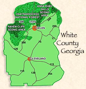 Map of White County